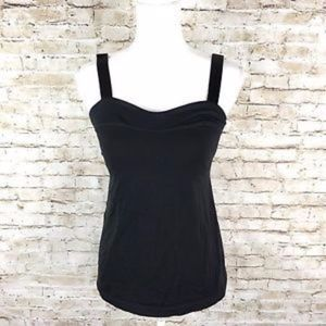 size 6 heart tank black Lululemon